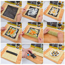 DIY Sushi Rolling Tools Roller Bamboo Material Mat Maker And A Rice Paddle Set