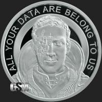 Silver Shield 1oz Proof Zuckerborg 2019 .999 Fine Silver Round COA