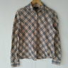 Burberry1 London Woman Top Shirt Beige Nova Check Long Sleeve Size L