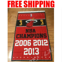 Miami Heat Champions Flag NBA Basketball Banner 3X5 ft 2 Gromments