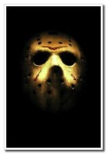 "Friday The 13th Jason Horror Mask 12""x8"" Movie Silk Poster For Home Shop"