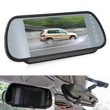 "Car 7"" Color TFT LCD Mirror Monitor Auto Reverse Rearview Backup Camera DVD VCR"