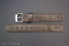 Quality Brown Lizard Leather Vintage Style Open-Ended Watch Strap 10mm-20mm