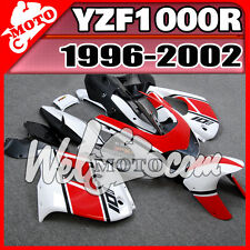 Welmoto For YZF 1000R 1996 2002 96 02 Thunderace ABS Fairing Red White Y16W13