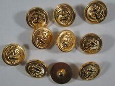 Knopf Knöpfe 10  stück  gold Anker knöpfe 18  mm groß #N3#