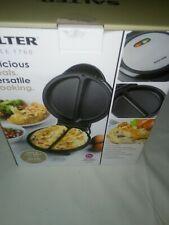 Salter EK2716 Non-Stick Dual Omelette Maker, 750W  Silver still on original box