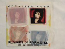 "JENNIFER RUSH / ELTON JOHN ""Flames Paradise"" PICTURE SLEEVE! NEW! NICEST ON eBAY"