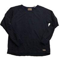 The Scotch & Soda Dark Striped Blue Long Sleeve Sweater Men's Size Large L