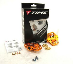 Time Speciale 8 Atac Mountain Bike MTB Enduro Pedals with Cleats Orange