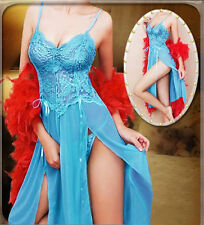 4 Colors NEW Lingerie Nightgown Gown Long Babydoll Nighty Plus Size 6-24 S-6XL