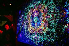UV Backdrop Reincarnation Wandbehang 2m x 3m Hippie Goa Bild Tapisserie Psy Tuch