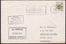 FIJI 1974 Ship cover to Australia ex Suva : SS ORIANA RADIO OFFICE..........5988