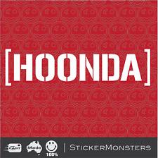 [ HOONDA ] Hoonigan Decal Sticker 300mmW Larger Size HONDA CRX Civic Prelude