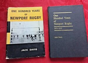 1974 1st EDITION ONE HUNDRED YEARS of NEWPORT RUGBY by JACK DAVIS + DUST JACKET