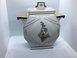 Limoges Art Deco  Storage Pot ? With Lid  vgc