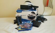 Sony Playstation VR HEADSET+Camera+2 Motion controllers+2 games and demo disc