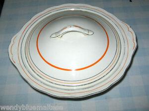 Creampetal Grindley England Ceramic Vegetable Table Server w Lid 25.5x23.5cm