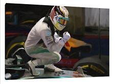 Lewis Hamilton World Champion 30x20 Inch Canvas Mercedes Framed Picture F1 Print