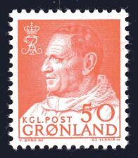 Greenland 1965 50 Ore Carmine-Red King Frederik IX Mint Unhinged