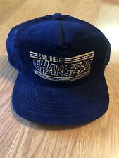 Vintage Drew Pearson San Diego Chargers NFL Football Corduroy Snapback Hat