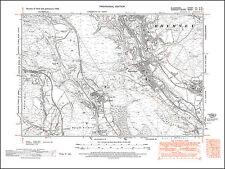 Pontlottyn, Fochriw, old map Glamorgan 1948: 12NE repro Wales
