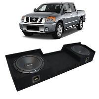04-15 Fits Nissan Titan King or Crew Truck Rockford R1S410 Dual 10 Sub Box 2 Ohm