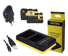 2x Patona Akku + Duo Dual Ladegerät für Canon EOS 5DS EOS / 5DS R / LP-E6N