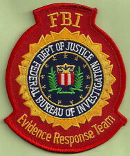 FBI EVIDENCE RESPONSE TEAM CSI POLICE PATCH