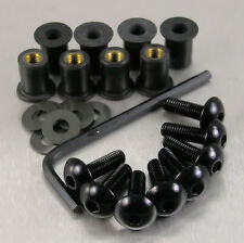 SCREEN BOLT KIT HONDA XL1000 VARADERO '99-'02 8 BOLT BLACK ALUMINIUM