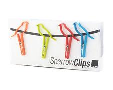 Design Ideas SPARROW Bird Bag Clips Set of 4 one each red, green, blue, orange