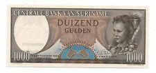 SURINAME 1000 GULDEN 1963 PICK 124 UNC
