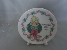 Enesco Precious Moments Boy 149276 Surrounded With Joy Mini Plate Wreath Boxed
