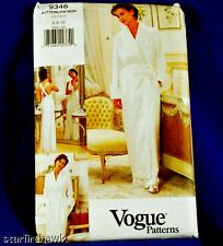 Vogue #9346 Robe, Belt & Nightgown Pattern Sz 6-10 NEW!