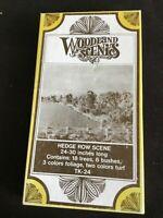 HO Woodland Scenics Hedge Row Scene kit TK-24 NEW