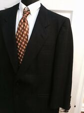 Nino Cerutti Men's Wool Navy Blue White Plaid Gingham 2 Button Blazer Size 44R