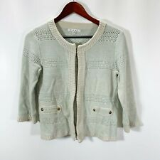 Cabi 231 Size S Small Society Sweater Cardigan Pale Mint Green Long Sleeve Knit
