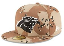 Carolina Panthers Ball Cap Hat~New Era 59Fifty Basic Camo Pop~NFL~Fitted Size 7