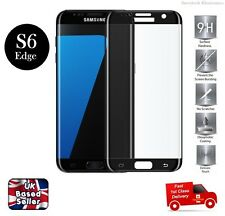Full 3D Rounded Tempered Glass Screen Protector For Samsung S6 Edge PLUS BLACK