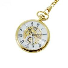 ROYAL LONDON 17 Jewel Mechanical Gold PVD Stainless Steel Pocket Watch 90049-02