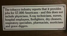 Anti Smoking Tin Sign Tobacco Pro Health