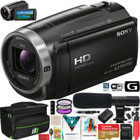 Sony HDR-CX675/B Full HD Handycam Camcorder CX675 Wifi NFC Video Camera Bundle