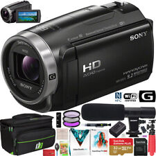 Sony HDR-CX675/B Full HD Handycam Camcorder CX675 Wifi NFC Video Camera Bundle
