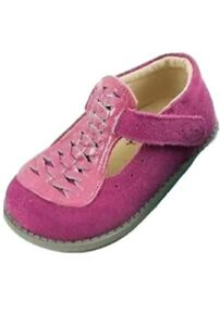 NIB LIVIE & LUCA Shoes Toi Toi Fuchsia Pink Suede 4 toddler HTF!