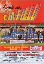 Linfield v Glentoran 1996/7 (april) Irish League