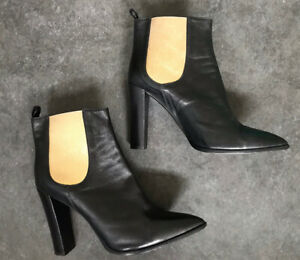 LUCCHESE Black Leather Ankle Boots 41
