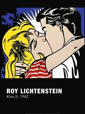 POP ART PRINT - Kiss II, 1962 by Roy Lichtenstein Romantic Poster 23.5x31.5