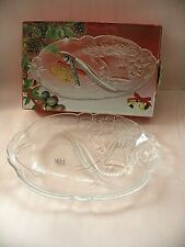 Mikasa Crystal Christmas Holiday Bells Divied Relish Tray from Marshall Field's