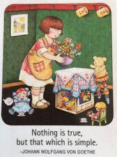 Mary Engelbreit Artwork-Nothing Is True-Handmade Fridge Magnet