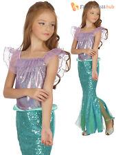 Girls Little Mermaid Costume Childs Fantasy TV Film Fancy Dress Kids Book Week