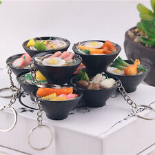 Simulation Food Japanese Noodles Key Chain Ring Keyring Pendant Purse Keychain